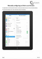 Manually Configuring an iPad to use AirCatch